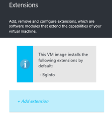azure machine extensions