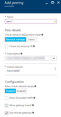 VNet Peering and Gateway Transit with S2S VPN – Deploy Azure
