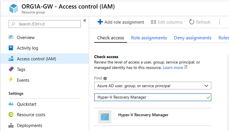 Azure Site Recovery Cross Subscription Permissions – Deploy Azure